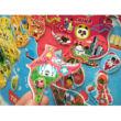 Világtérkép mágneses puzzle, kirakó 92 db-os - Janod
