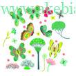 Ablakmatrica - Butterflies in the garden - Little BIG room by Djeco