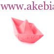 Origami hajó rágóka - rózsaszín, ORIGAMI BOAT PINK- Oli&Carol