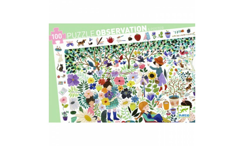 a38a946c0135 1000 virág 100 db-os megfigyelő puzzle, kirakó - 1000 flowers - Djeco