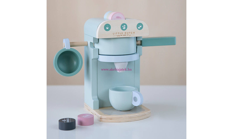 ec5fa87537 Kávéfőző szett - kapszulás, menta - Coffee machine, mint - Little Dutch