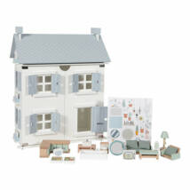 Babaház fából, kiegészítőkkel 20db - Doll's house - Little Dutch