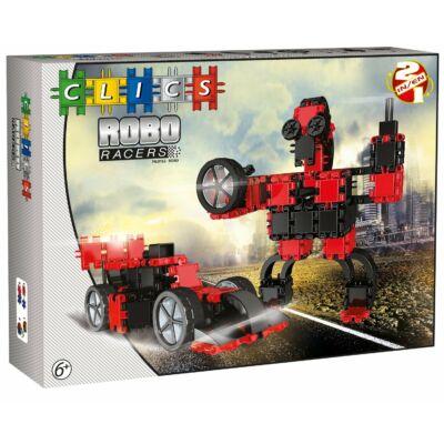 Robotos építőjáték 6 éves kortól - piros,  RoboRacer box black and red - 2 in 1 - Clics