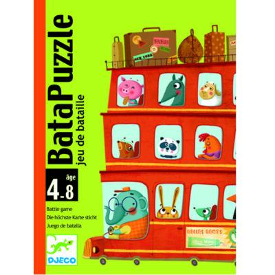 Bata puzzle, gyorsasági és taktikai kártyajáték 4 éves kortól - Djeco