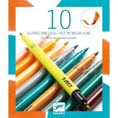 10 darabos filctoll-ecset készlet, 10 kiegészítő szín - Djeco