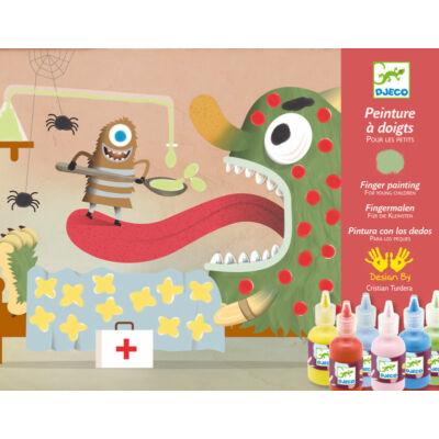 Kreált figurák, Decorate the creatures ujjfestés 3 éves kortól - Djeco design by