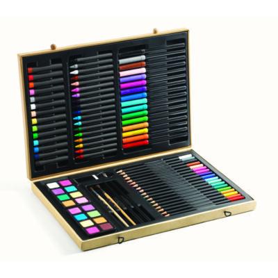 Big box of colours, kreatív művészeszközök díszdobozban - Djeco