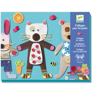 Kollázs készítés kisebbeknek, Collages for little ones 3-6 éves korig - Djeco