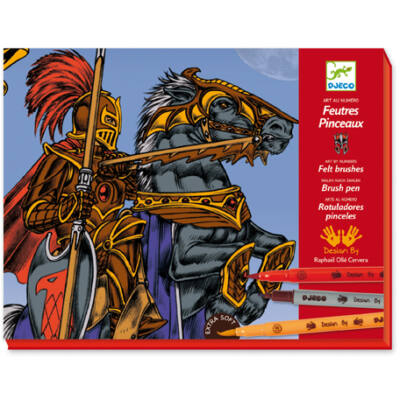 Lovagrajzoló - Draw knights, képek filctollal 7-13 éves korig - Djeco