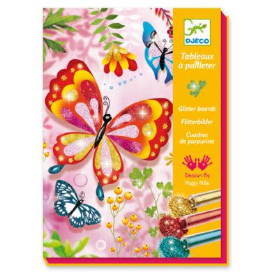 Pillangók glitteres homokszóró 7 -15 éveseknek - Djeco