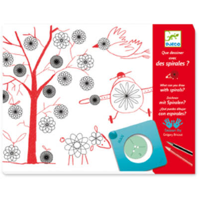 Mit rajzolhatsz a spirálokkal? - What can you draw with spirals?, kreatív rajzolós készlet 7-13 éves korig - Djeco