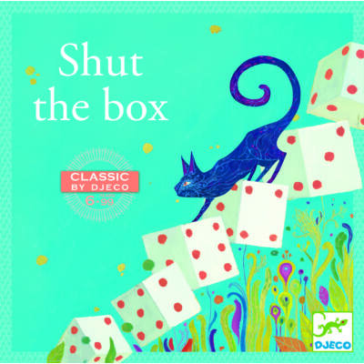 Shut the box, klasszikus dobókockás társasjáték 6 éves kortól - Djeco