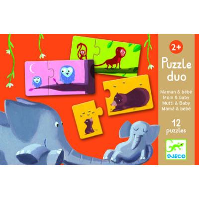 Mom and baby, Anya és kicsinye puzzle 2 éves kortól - Djeco