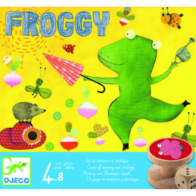 Froggy - Brekkencs társasjáték 4 éves kortól - Djeco
