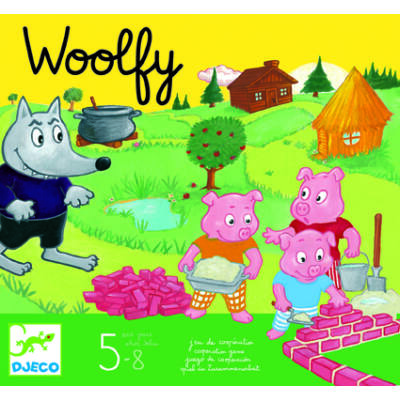 WOOLFY - A 3 kismalac kooperativitást, együttműködést fejlesztő társasjáték 4 éves kortól - Djeco