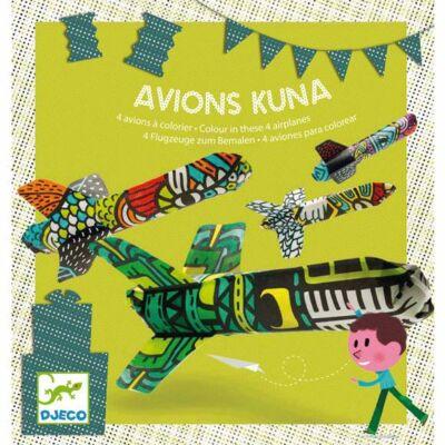 Partijáték - Színezhető repülők - Kuna plane - Djeco