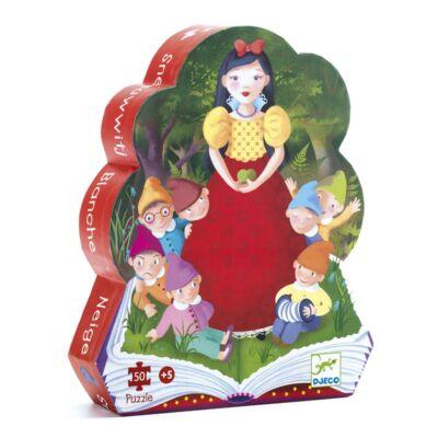Hófehérke - Snow White 50 db-os formadobozos puzzle, kirakó 5 éves kortól - Djeco