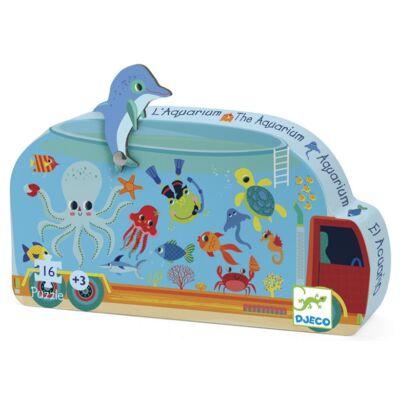 Formadobozos puzzle - Mozgó akvárium - The aquarium - Djeco