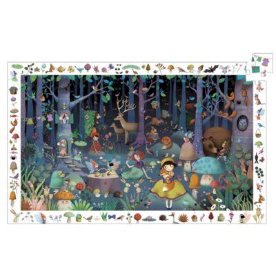 Elvarázsolt erdő, 100 db-os puzzle - Enchanted Forest - Djeco