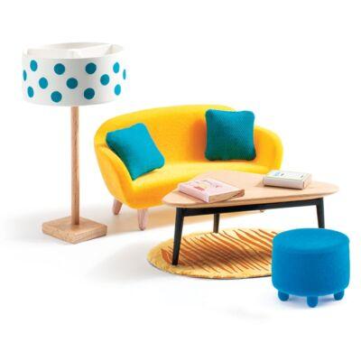 Berendezés - A sárga nappali - The orange living room - Djeco