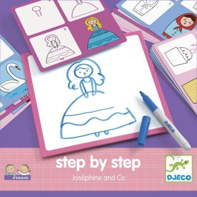 Rajzolás lépésről lépésre - Hercegnő - Step by step Joséphine and Co - Djeco