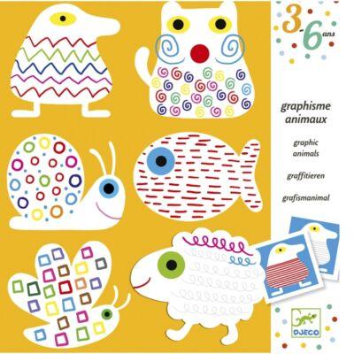 Graphism Animals, állatos színezők 3 éves kortól - Djeco design by