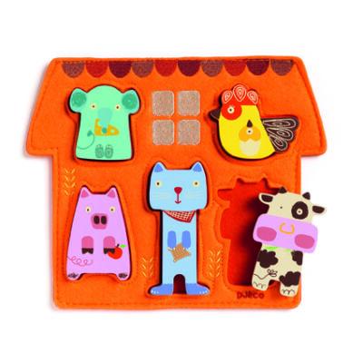 Barita, háziállatos fejlesztő puzzle, kirakó 1 éves kortól - Djeco