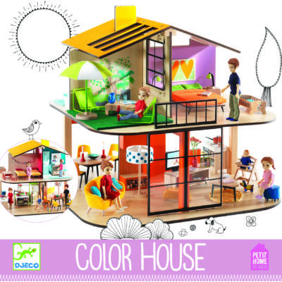 Színes babaház, Colour house  4 éves kortól - Djeco