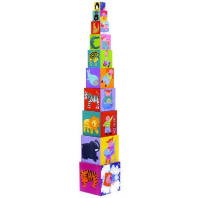 Toronyépítő kocka, vicces 1 éves kortól- Djeco