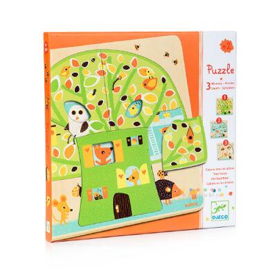 Háromrétegű puzzle, Faház 18 hónapos kortól - Djeco