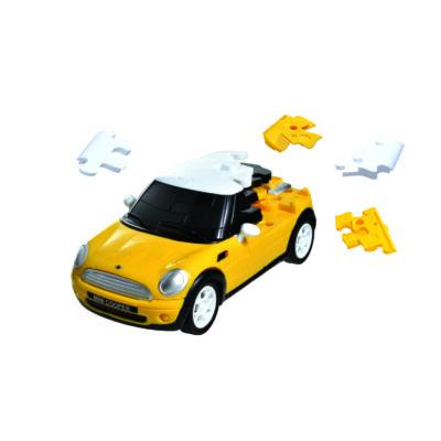 3D puzzle, Mini Cooper - sárga 8 éves kortól - Eureka