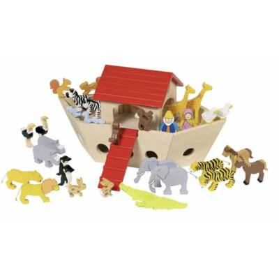 Noé bárkája állatfigurákkal - Goki