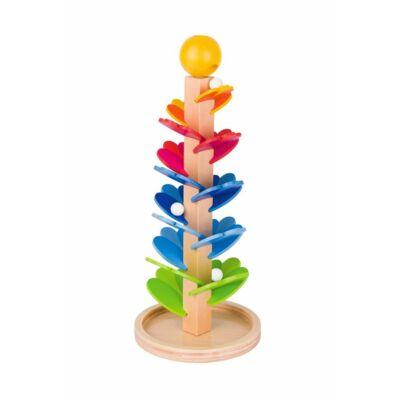 Pagoda, golyós zenélő játék fából - Goki