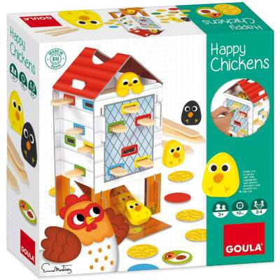 Vidám csibe csúszka társasjáték - Happy Chicken - Goula