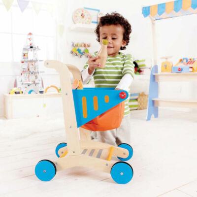 Bevásárlókocsi fából 3 éves kortól, Shopping cart - HAPE