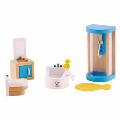 Fürdőszoba bútor fából babaházhoz, Happy Family Bathroom 3 éves kortól - HAPE