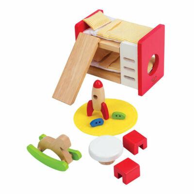 Gyerekszoba bútor fából babaházhoz, Happy Family children's room 3 éves kortól - HAPE
