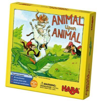 Állatpiramis, Animal upon Animal építős társasjáték- Haba