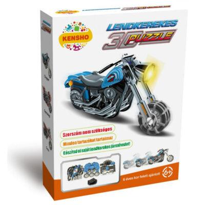 Chopper motor, felhúzható 3D puzzle - Hope Winning