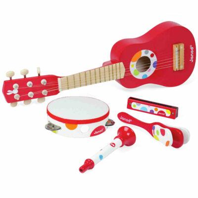 Gitáros hangszer szett,  Music live Musical set 3 éves kortól - JANOD
