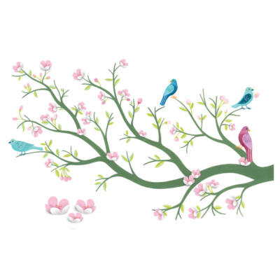 Falmatrica - Cherry tree in bloom - Virágzó cseresznyefa, 3D-s, JADE - Little BIG room by Djeco