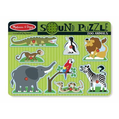 Hangot adó kirakó puzzle - Állatkerti állatok, Zoo animals 2 éves kortól - Melissa & Doug