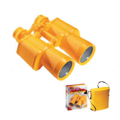 Kétcsövű sárga gyermektávcső tokkal, Special 50 Yellow Binocular with Case - Navir