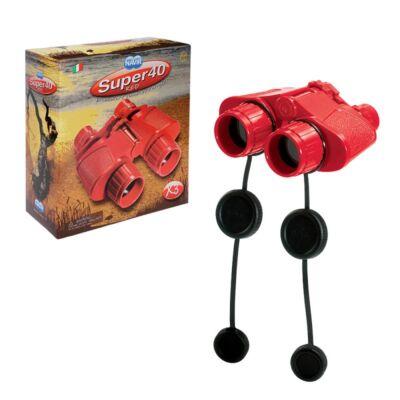 Kétcsövű gyermektávcső, piros tok nélkül - Super 40 Red Binocular with Case - Navir