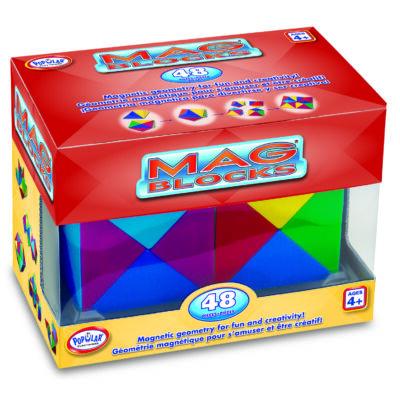Mag-Blocks 48 db-os, mágneses építőjáték 8 éves kortól -  Popular Plaything