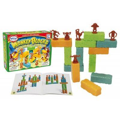 Monkey Blocks, kockaépítős játék 3 éves kortól -  Popular Plaything