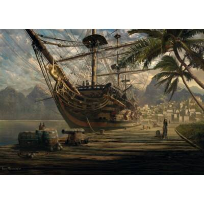 Ship at Anchor 1000 db-os puzzle, kirakó - Schmidt Spiele