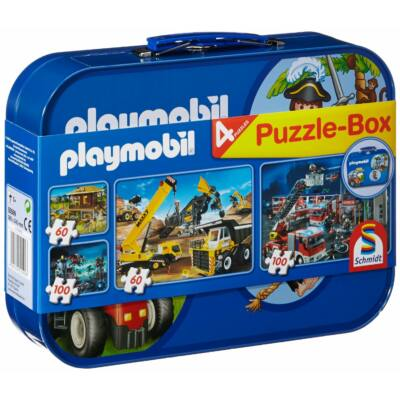 Playmobil Puzzle-Box 4 db kirakóval, puzzle 5 éves kortól - Schmidt Spiele
