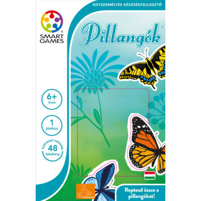 Butterflies, PILLANGÓK logikai játék 6 éves kortól- SmartGames