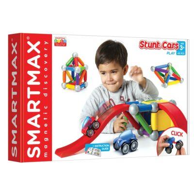 SmartMax Basic STUNT CARS mágneses építőjáték 1 éves kortól - 46 építőelem